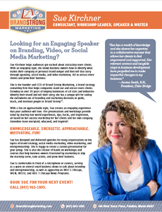 Download Sue's speaking kit for more information.