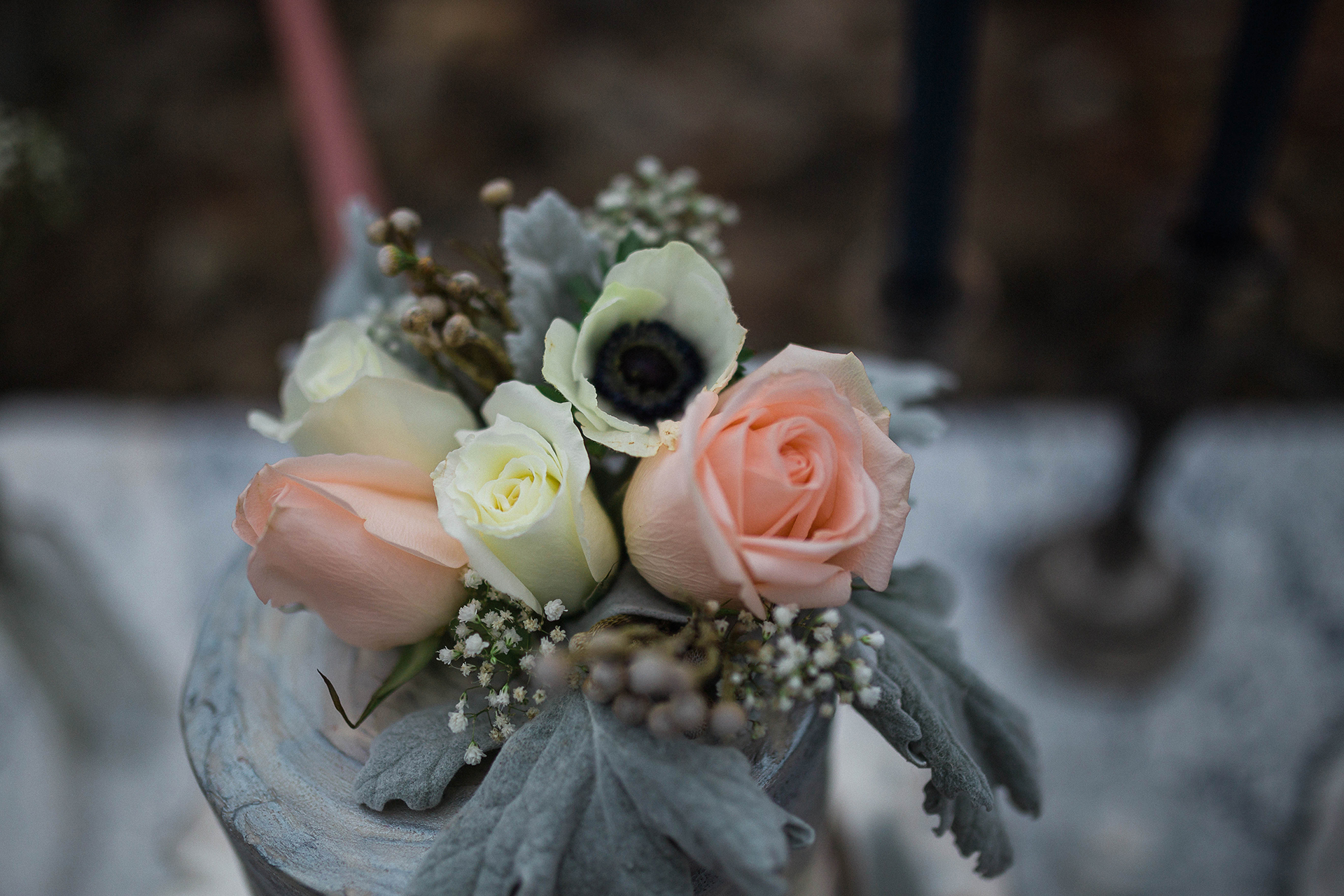 Blush & Navy 2017 © Mountain Violets Floral Design - 2018