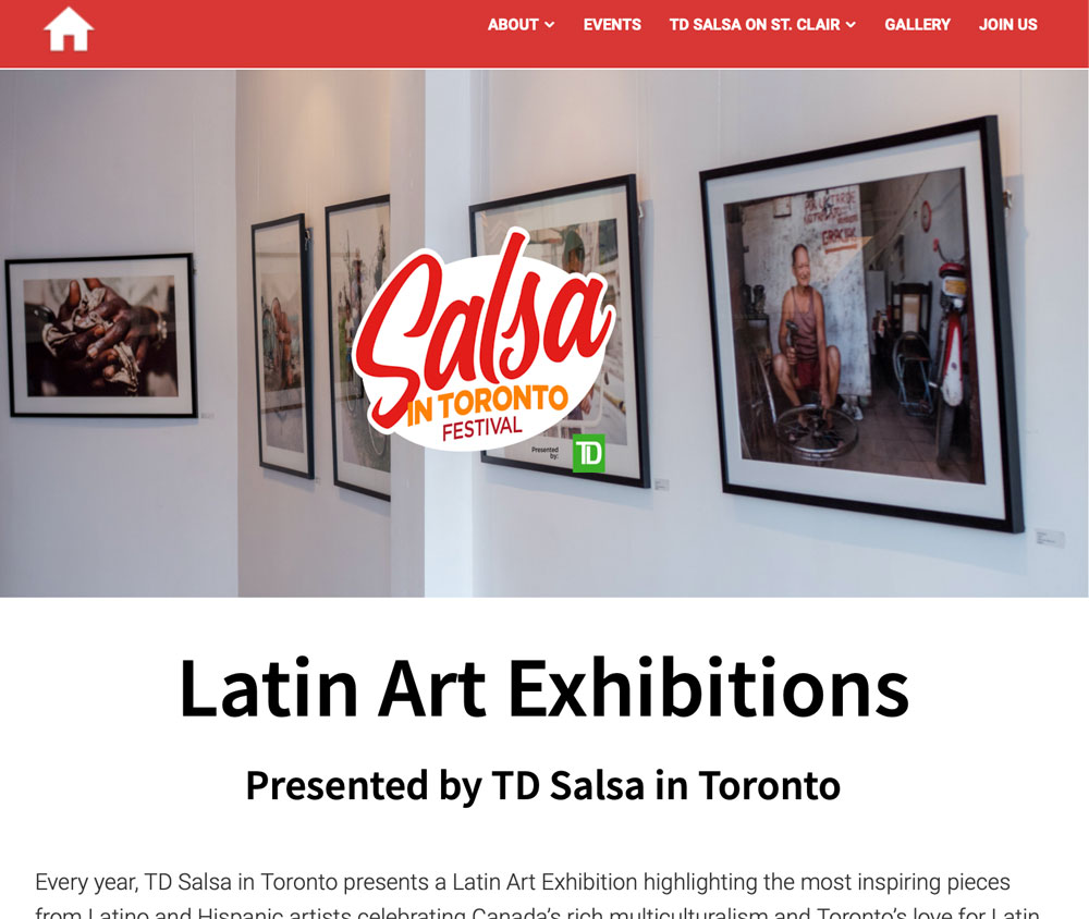 HAVANA 500 EXHIBITION on SALSA IN TORONTO WEBSITE