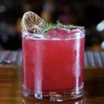 """""""Smokin Berries"""" Rich deep and flavorful this cocktails brings in the smoke of mezcal with the rich flavors of blackberry and balances with an herbal finish. mezcal-blackberry-lime-honey liqueur-bitters"""