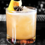 """Double Down""  Inspired by a Brown Derby, this cocktail gives the classic a facelift adding depth and spice notes. bourbon-lemon-grapefruit-spiced honey"