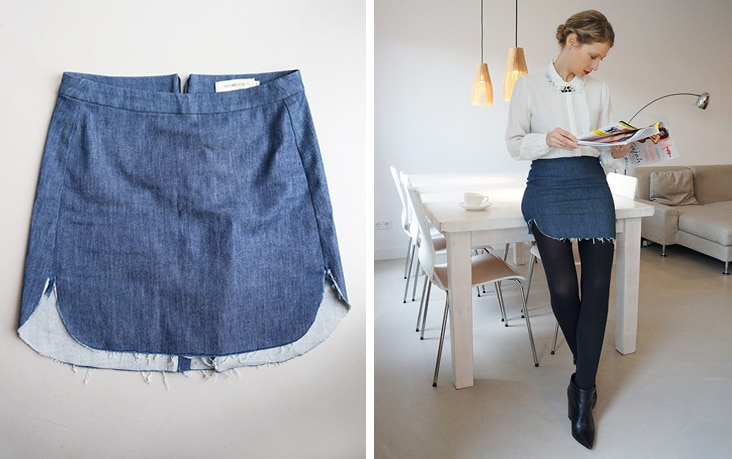 Borrowing clothes : Denim Noumenon mini-skirt