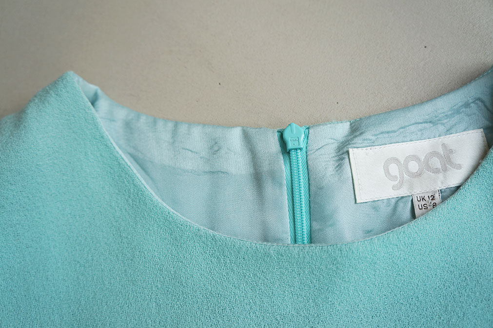 Borrowed mint Goat dress from Amsterdam fashion libraryLENA - detail 1