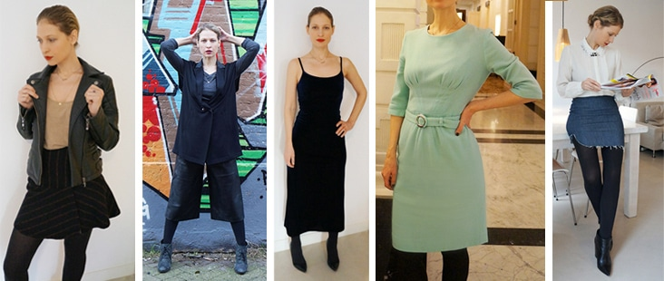 Borrowing clothes from Lena the fashion library in January