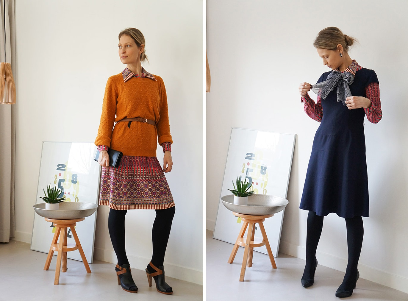 working with a personal stylist: one dress - 2 looks