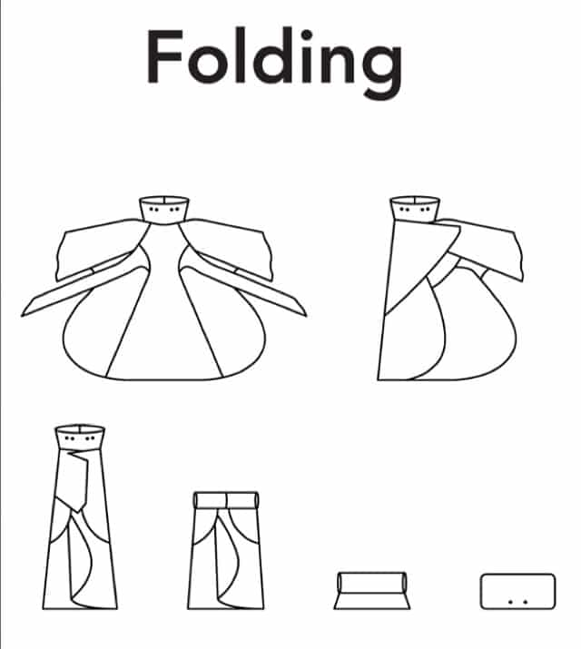 How to fold the raindress byBrown