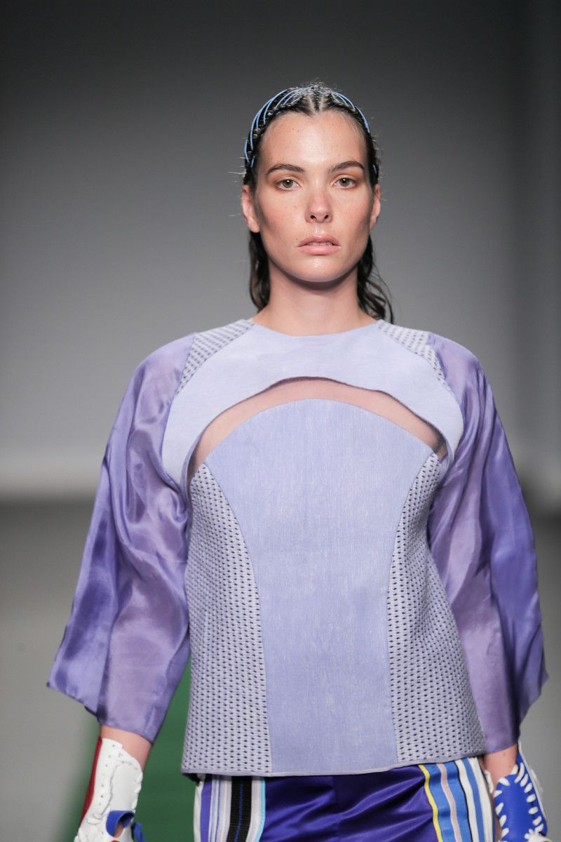 Bacteria-dyed top by Karlijne Opmeer featured in M.E.N. collection