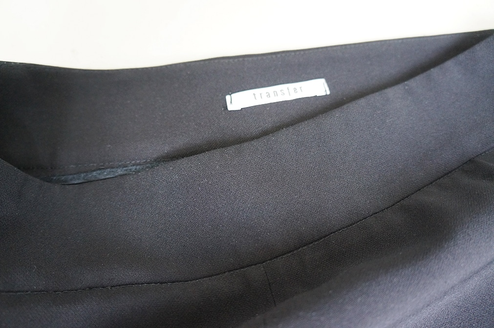 "The black trousers ""Transfer"" borrowed from the LENA fashion library - detail"