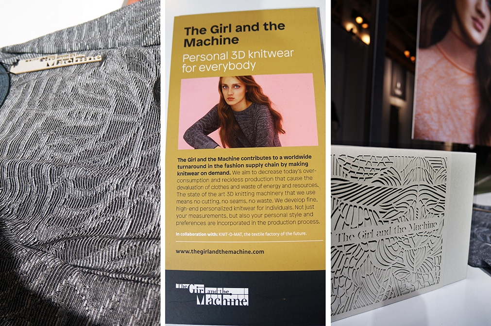 The Girl and The Machine personal 3D knitwear