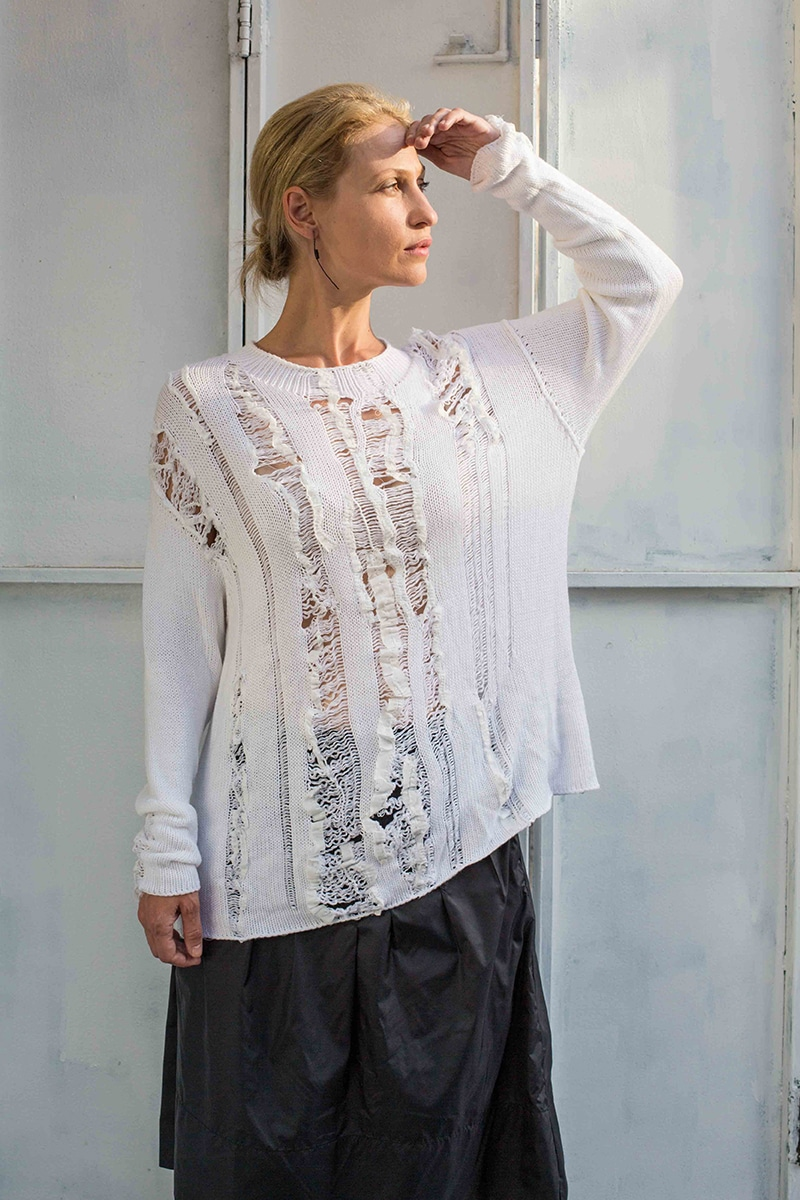 Repelle white sweater