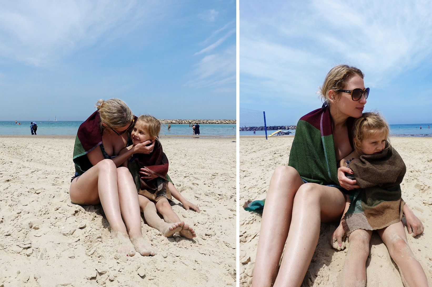 Maya and I on the beach in the Karigar cape