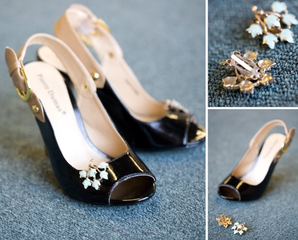 a simple shoe DIY: clips to add a sparkle