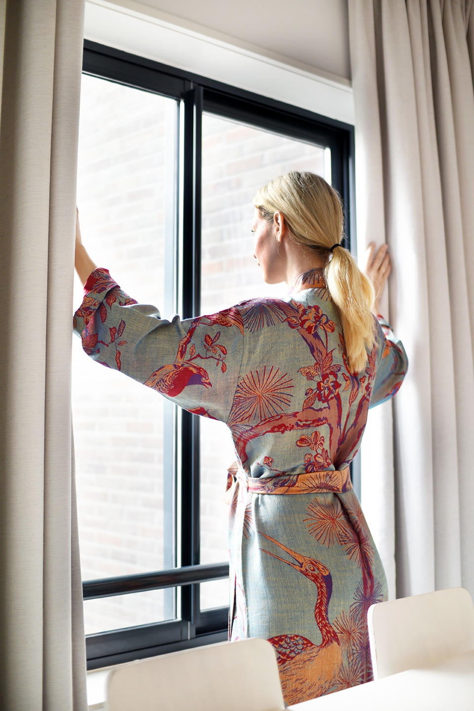 Reversible Dressing Gown in Opaline by Shibumi