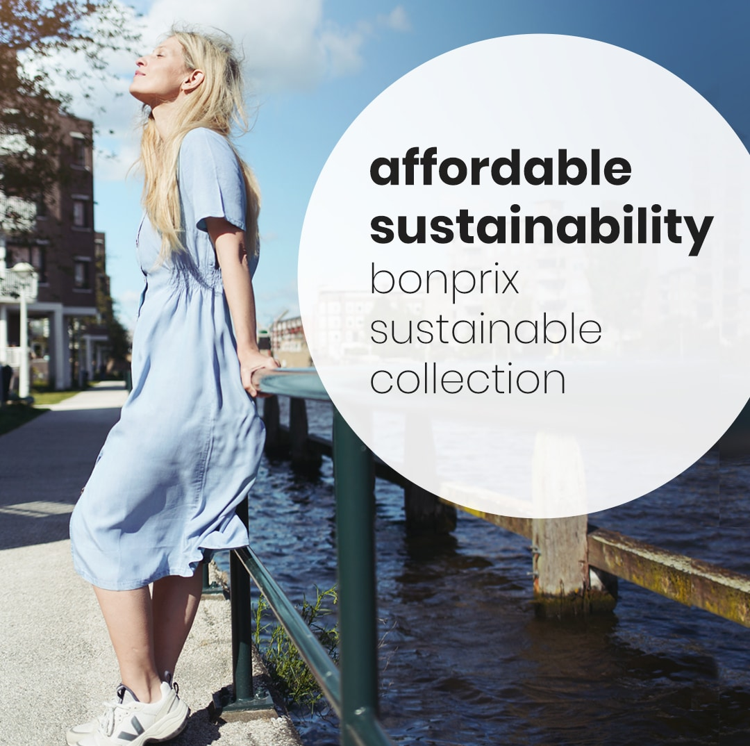 Blue sustainable jean dress from Bonprix