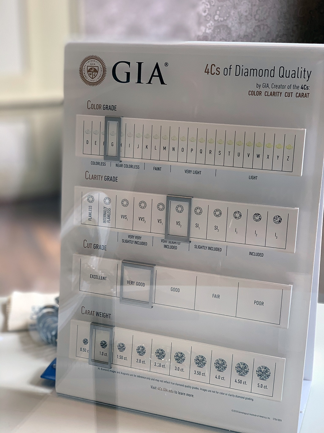 an example of diamond grading system