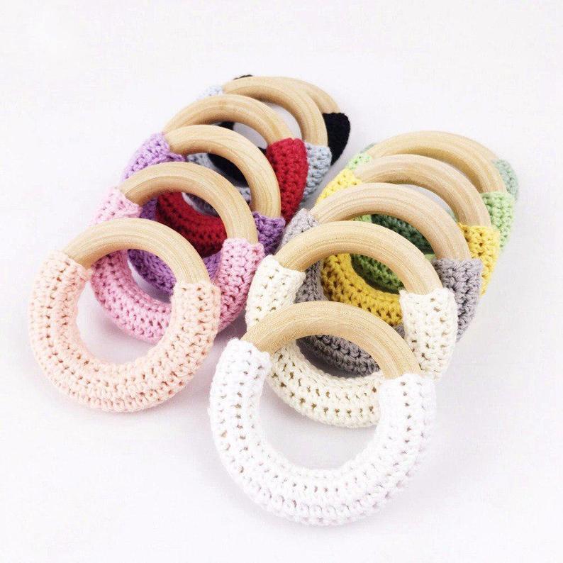 Crochet Wood Rings