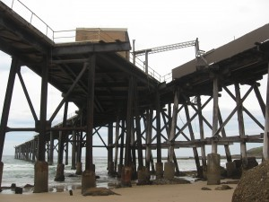 The Catherine Hill Bay jetty before the 2013 fire