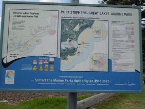 Port Stephens Marine Park sign