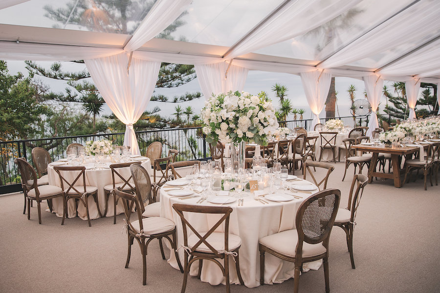 Elegant Tented Gulls Way Wedding