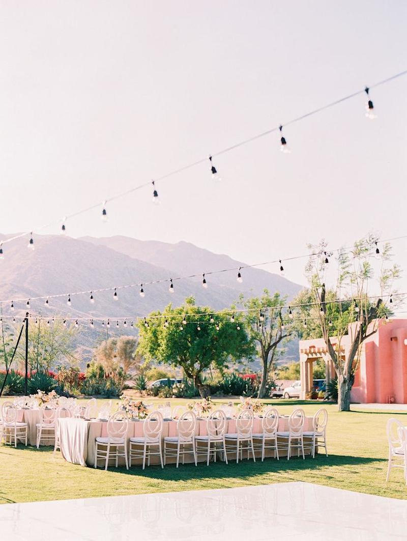 premiere, premiere party rents, palm springs wedding, desert wedding, blush desert wedding, party rentals, wedding rentals, event rentals