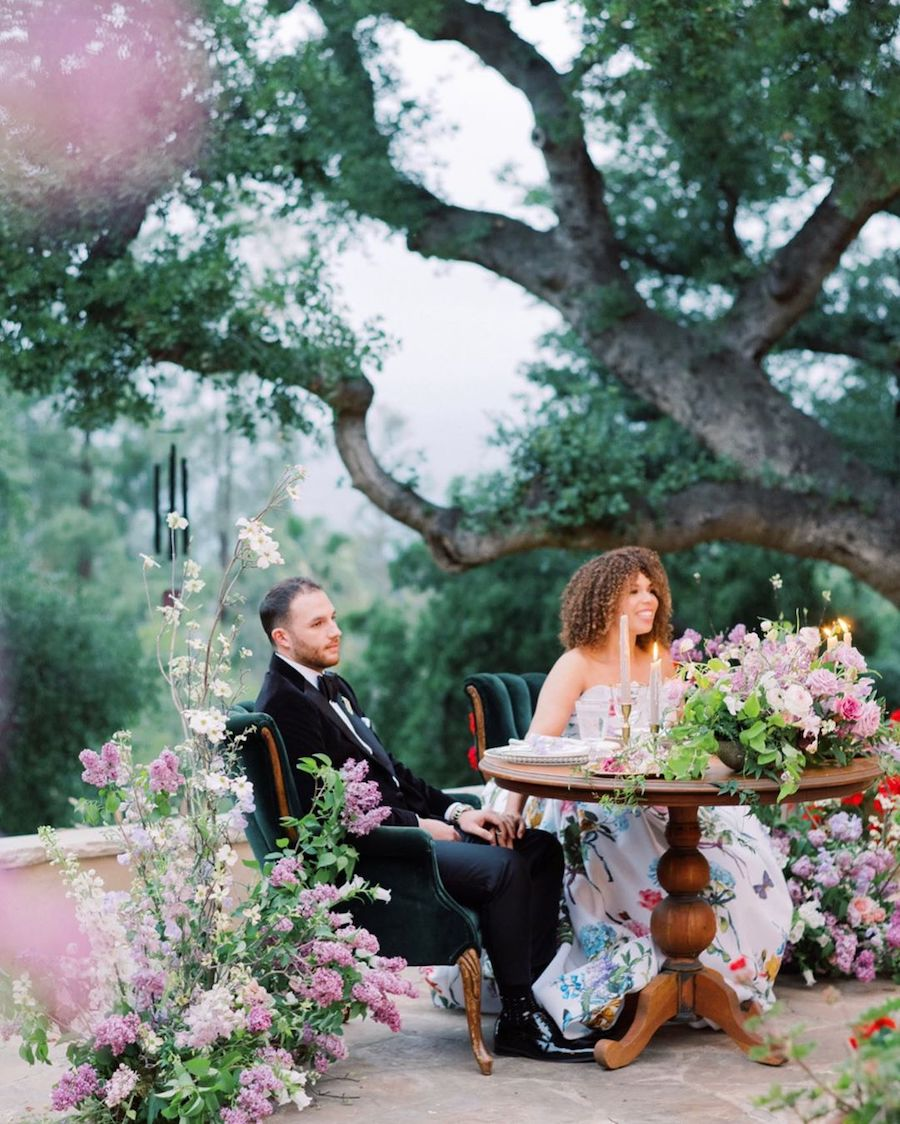 floral filled garden wedding, ojai wedding, rentals, premiere party rents, party rentals, wedding rentals