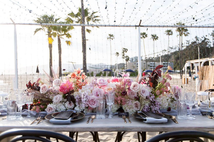 whimsical beachside wedding, wedding inspiration, jonathan beach club, premiere, premiere party rents, premiere party rents products, rentals, los angeles rentals, ventura rentals, party rentals, wedding rentals