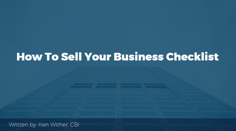 How to sell your business checklist