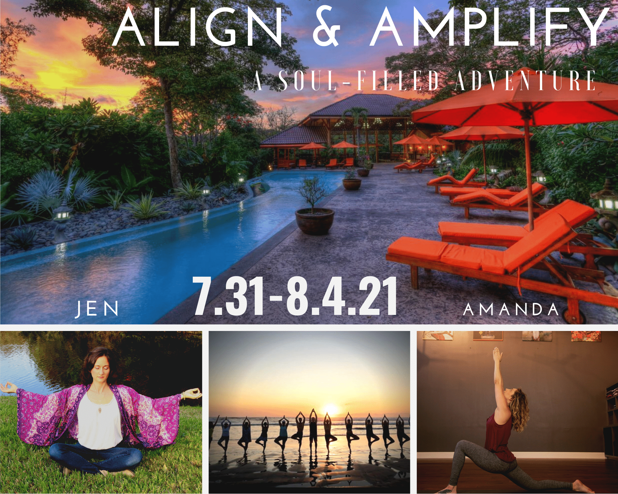 Yoga Retreat with Amanda Riker and Jen Mons