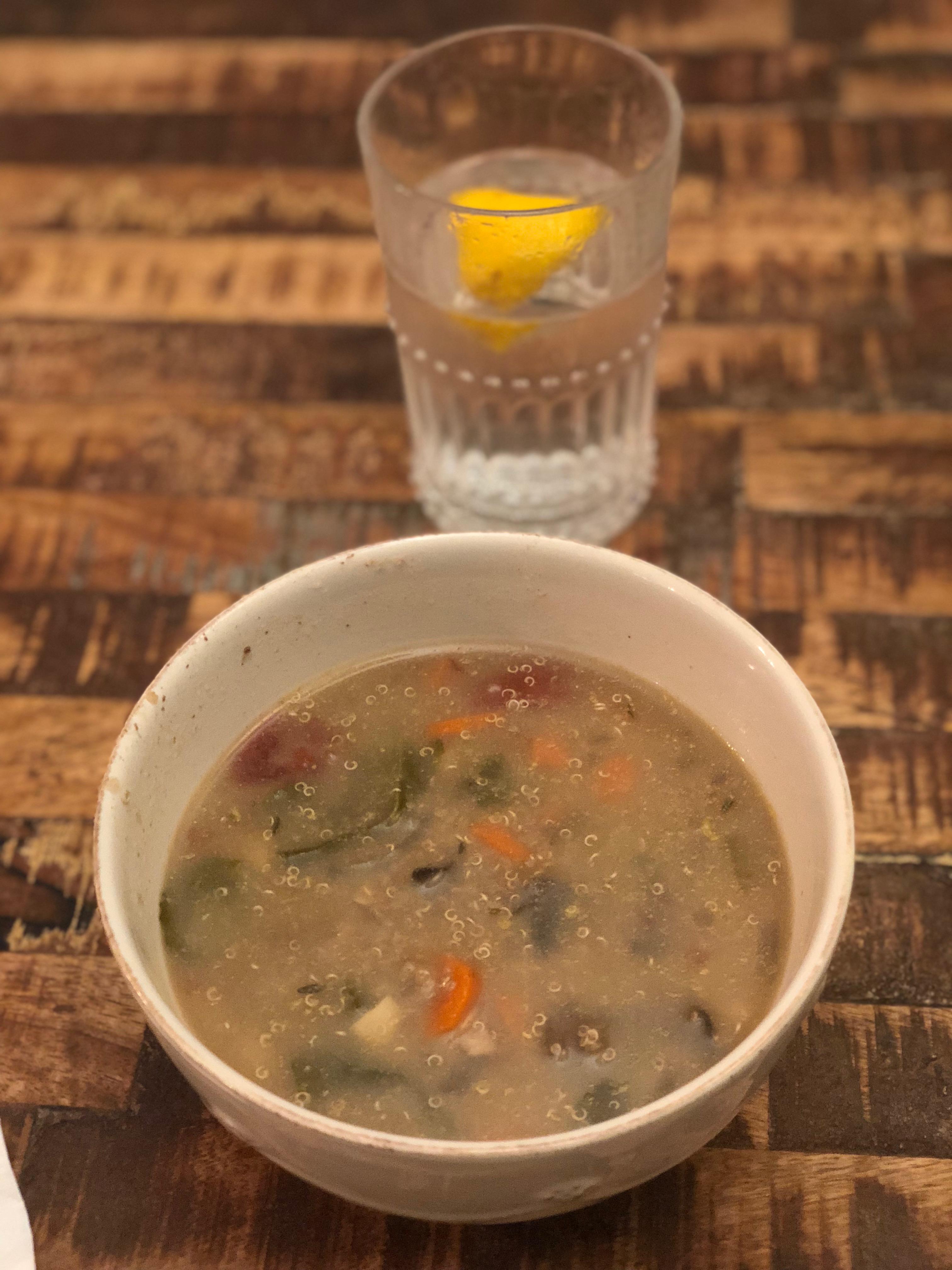 Mushroom, Beef, & Quinoa soup