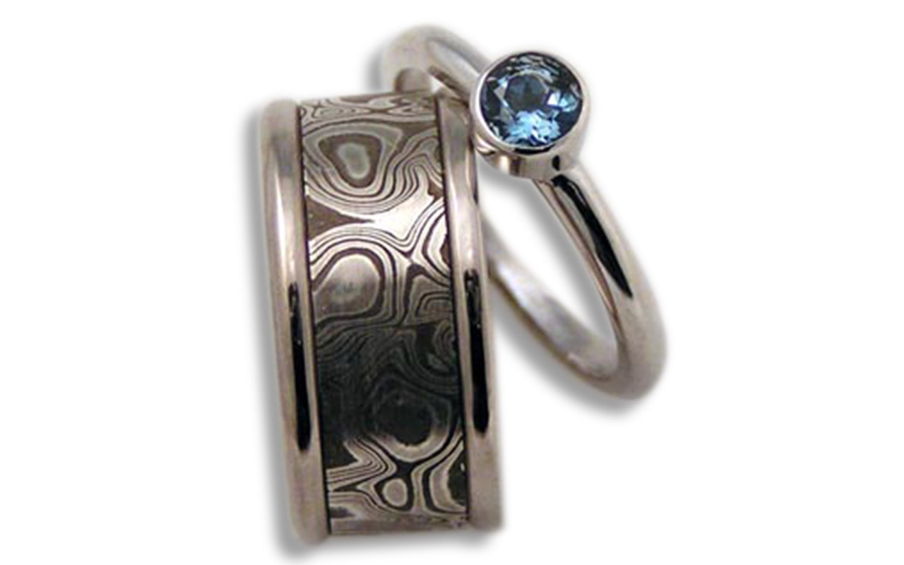 Makume Gane with Blue Topaz