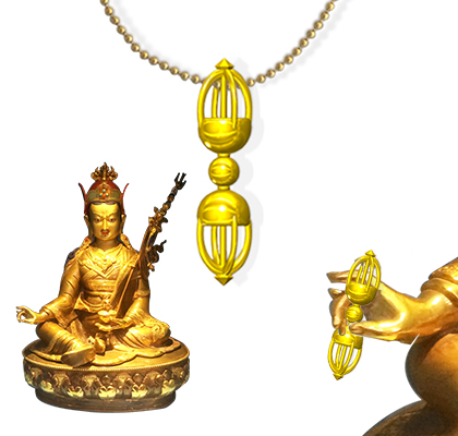 A custom made sacred Vajra or Dorje made for Guru Rinpoche's statue at Vajra Vidya Temple in Crestone Colorado.