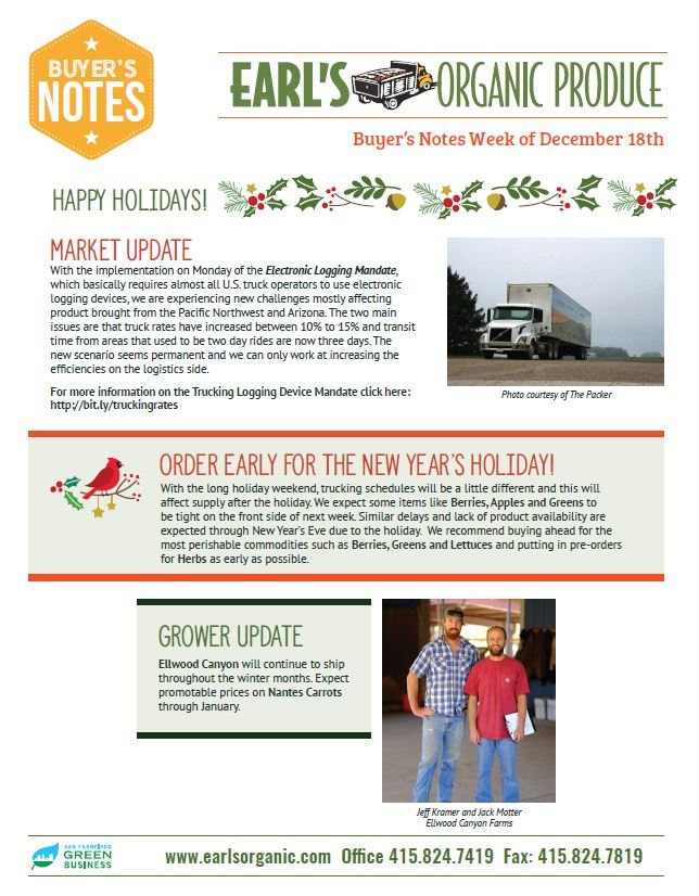 Buyer's Notes December 18 Page 1