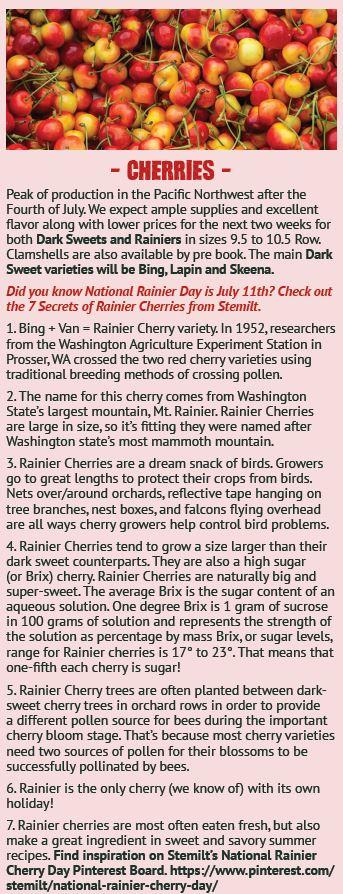 Rainier Cherry 7 Secrets