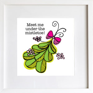 Meet Me Under the Mistletoe - Art Print by LeAnne Poindexter