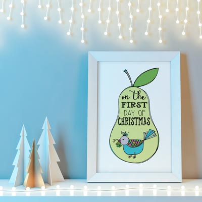 The First Day of Christmas Illustration by LeAnne Poindexter