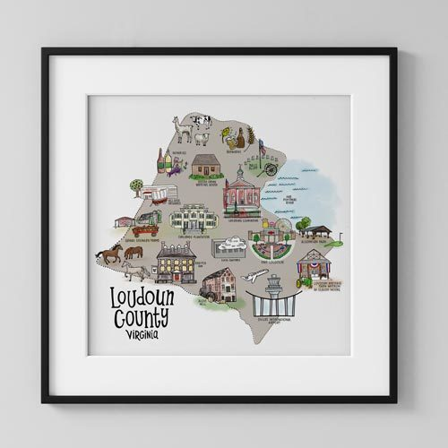 Loudoun County Map Illustration by LeAnne Poindexter