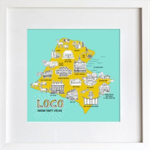 Loudoun County Map - Modern Version - Designed by LeAnne Poindexter
