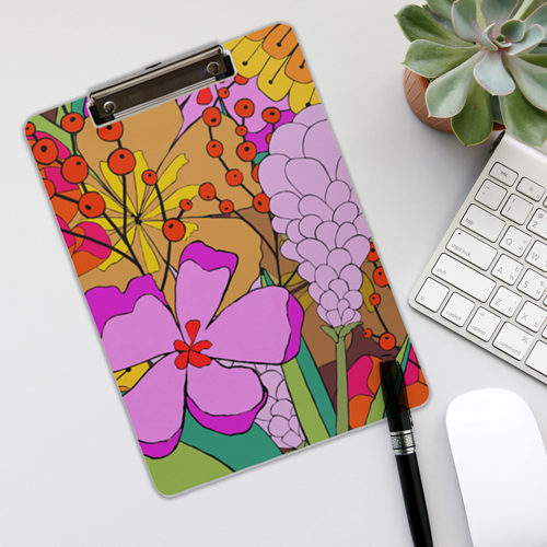 Pop of Pink on Clipboard Design by LeAnne Poindexter