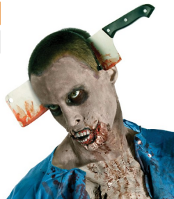 The Walking Dead Costume Accessory Cleaver In Head