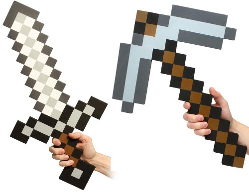 Minecraft  Minecraft Foam Sword & Pickaxe Combo Set Of 2