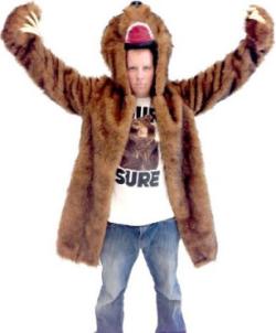 Workaholics Blake Bear Coat Adult Costume