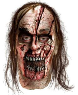 The Walking Dead Zombie Man With Split Head Latex Mask
