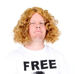 Curly Long Hair Henderson Costume Wig