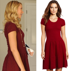 Gwen's red sweater dress – The Mindy Project