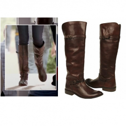 Elena's flat brown boots – The Vampire Diaries