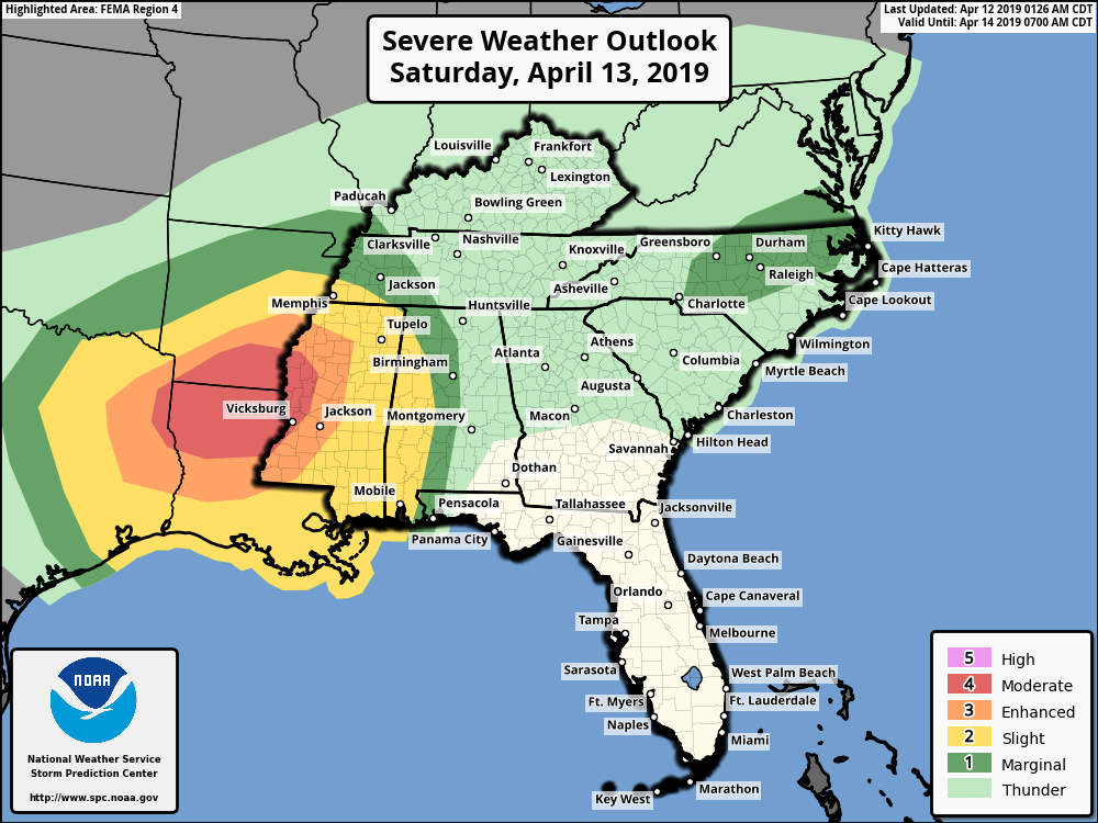 Significant Severe Weather Outlook Forecast For This Weekend