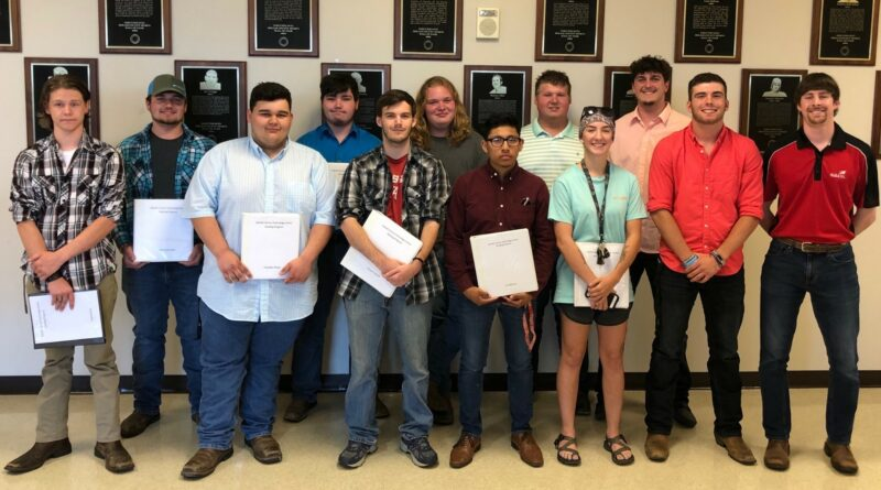 DCTC Pipe Certified students for the 2018 – 2019 school year