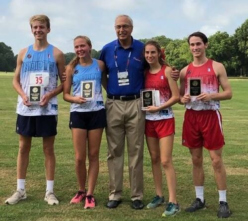 Maggi Crow of Fort Payne Receives  North-South Fastest Runner Award