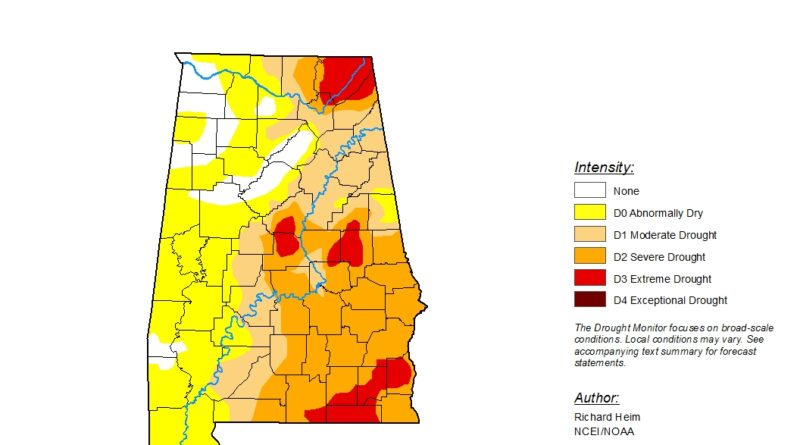 Drought Conditions Continue To Get Worse Across Alabama