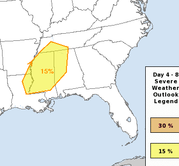 Severe Weather Possible Monday, Across the South